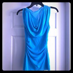 Blue Dressy Tank Top